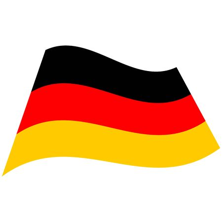 Federal Republic of Germany. National flag, wave. Abstract concept, icon. Vector illustration.