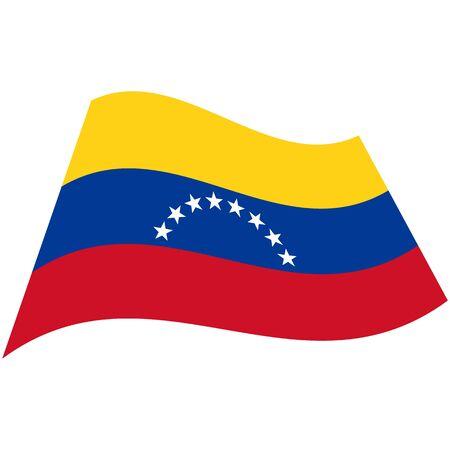 Bolivarian Republic of Venezuela. National flag, wave. Abstract concept, icon. Vector illustration
