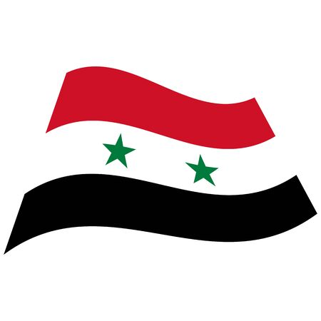 Syrian Arab Republic. National flag, wave. Abstract concept, icon. Vector illustration.