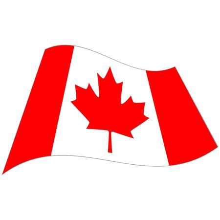 Canada. National flag, icon. Vector illustration on white background. Ilustrace