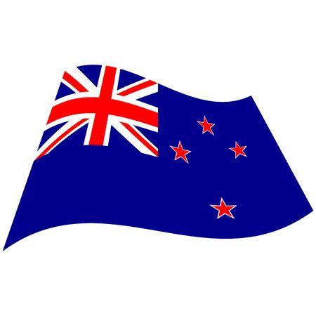 New Zealand. National flag, icon. Vector illustration on white background.
