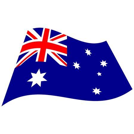 Commonwealth of Australia. National flag, icon. Vector illustration on white background.