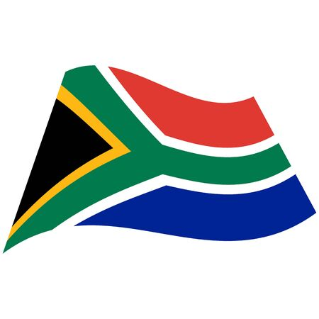 Republic of South Africa. National flag, icon. Vector illustration on white background.
