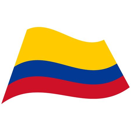 Republic of Colombia. National flag, icon. Vector illustration on white background.