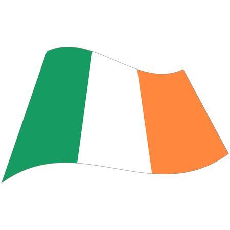 Republic of Ireland. National flag, icon. Vector illustration on white background.