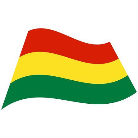 Plurinational State of Bolivia. National flag, icon. Vector illustration on white background. Illusztráció