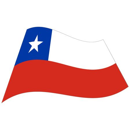 Republic of Chile. National flag, icon. Vector illustration on white background.