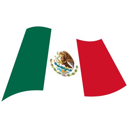 United Mexican States. National flag, icon. Vector illustration on white background.