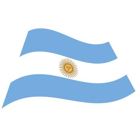 Argentine Republic. National flag, icon. Vector illustration on white background.