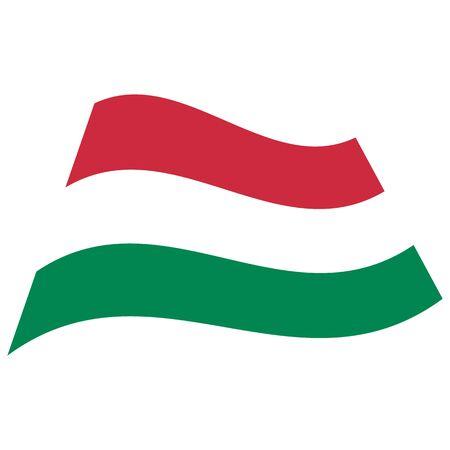 Hungary. National flag, icon. Vector illustration on white background.