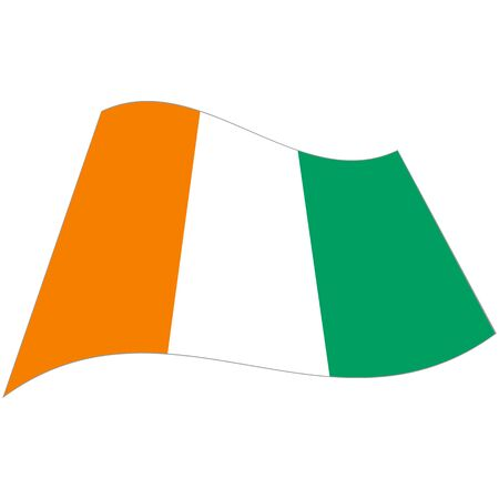 Republic of Côte dIvoire. National flag, icon. Vector illustration on white background.