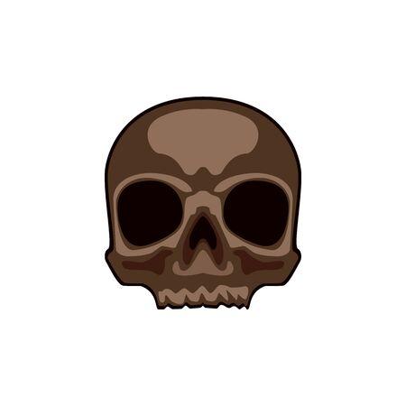 Skull Abstract concept, icon. Vector illustration on white background. Stock Illustratie