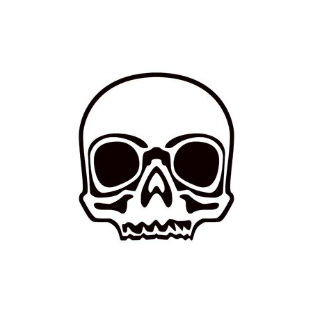 Skull. Abstract concept, icon. Vector illustration on white background.