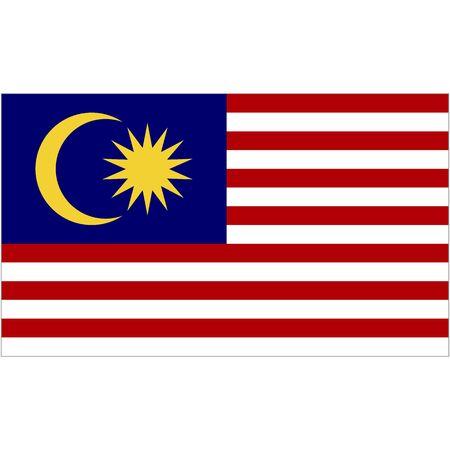 Malaysia. National flag. Abstract concept, icon. Vector illustration on white background. Vektoros illusztráció
