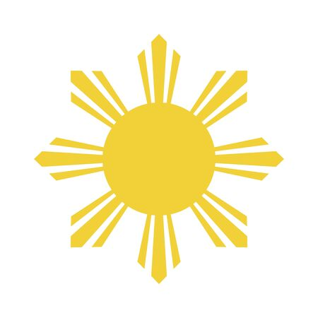 Flag element of the Republic of the Philippines. Abstract concept, icon. Vector illustration on white background.
