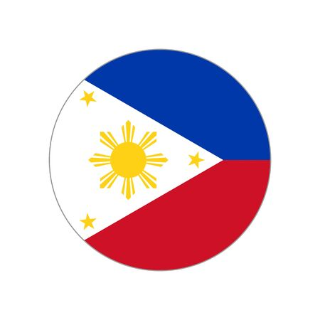 Republic of the Philippines. National flag. Abstract concept, icon. Vector illustration on white background.