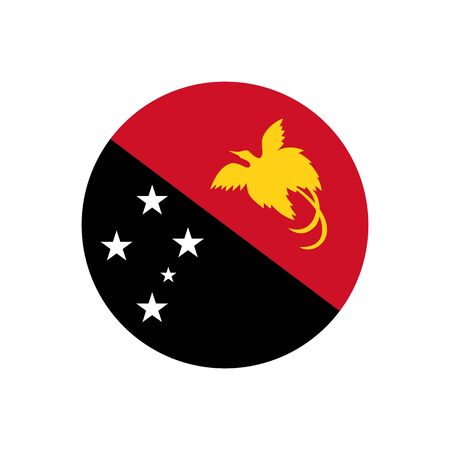 Independent State of Papua New Guinea. National flag, icon. Vector illustration on white background.