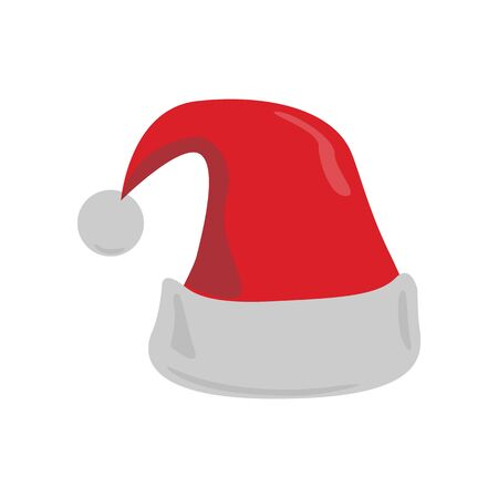 Christmas Santa Claus hat. Abstract concept, icon. Vector illustration on white background.