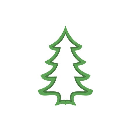 Christmas tree. Abstract concept, icon. Vector illustration on white background.
