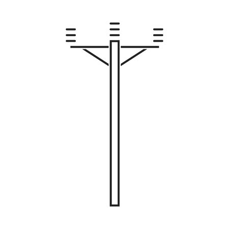 Electric pillar. Electricity icon suitable for infographics, websites and print media and interfaces. Vector illustration. Ilustração