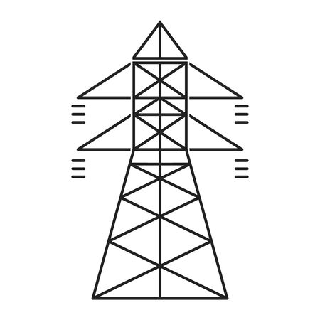 Electric tower. Electricity icon suitable for info graphics, websites and print media and interfaces. Vector illustration. Ilustração