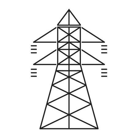 Elektrischer Turm. Stromsymbol geeignet für Infografiken, Websites und Printmedien und Schnittstellen. Vektor-Illustration. Vektorgrafik