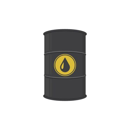 Oil barrel. Abstract concept, icon. Vector illustration.