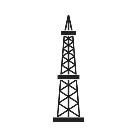 Ölbohrinsel. Abstraktes Konzept, Symbol. Vektor-Illustration.