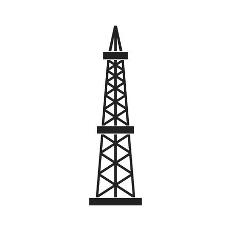Oil rig. Abstract concept, icon. Vector illustration.
