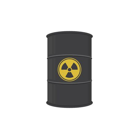 Barrel of radioactive substance. Abstract concept, icon. Vector illustration.