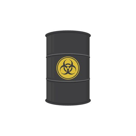 Barrel of biohazard substance. Abstract concept, icon. Vector illustration.