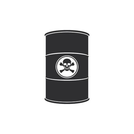 Barrel of toxic substance. Abstract concept, icon. Vector illustration.