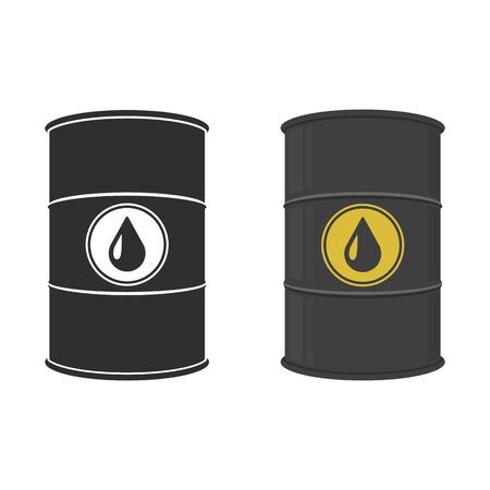 Oil barrel. Abstract concept, icon set. Vector illustration.