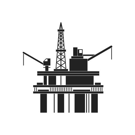 Oil platform. Abstract concept, icon. Vector illustration.