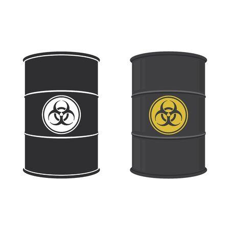 Barrel of biohazard substance. Abstract concept, icon set. Vector illustration. Illusztráció