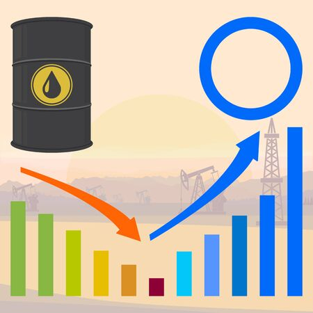 Oil barrel, infographic elements. Abstract concept, icon set. Vector illustration.