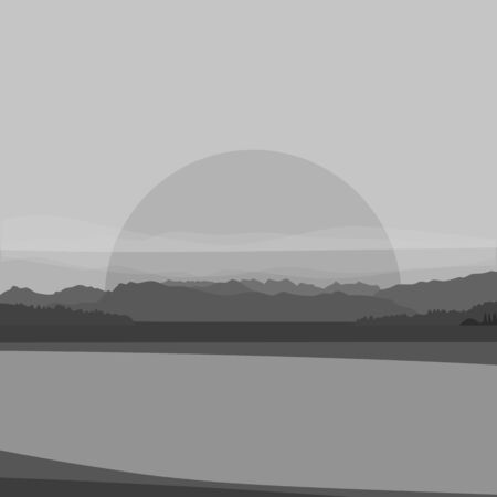 Nature landscape. Mountains, desert. Vector illustration. Иллюстрация