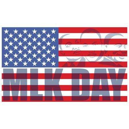 Martin Luther King Day banner layout design. Vector illustration. Illusztráció