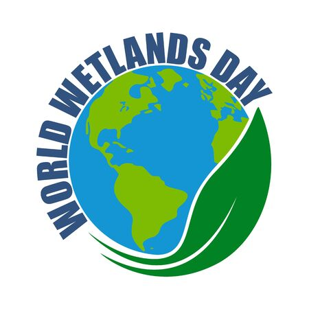 World wetlands day. Ecology concept, icon. Vector illustration.