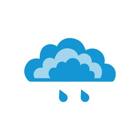 Symbols of clouds and light rain. Abstract concept, icon. Vector illustration.
