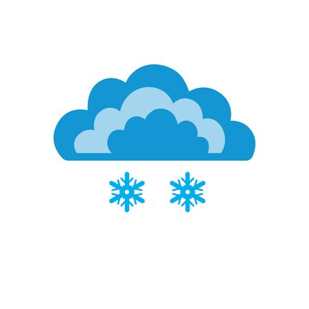 Symbols of clouds and light snow. Abstract concept, icon. Vector illustration. Illustration