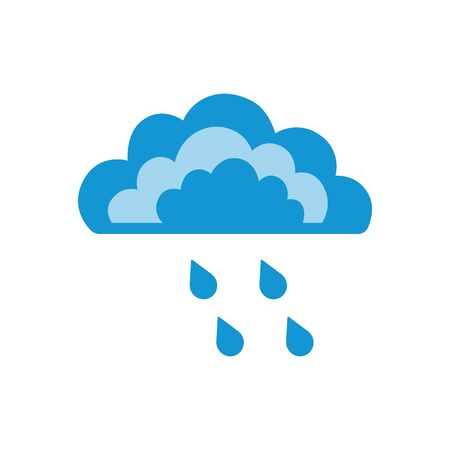 Symbols of clouds and rain. Abstract concept, icon. Vector illustration. Illustration