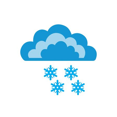 Symbols of clouds and snow. Abstract concept, icon. Vector illustration.