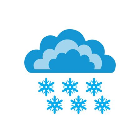 Symbols of clouds and heavy snow. Abstract concept, icon. Vector illustration.