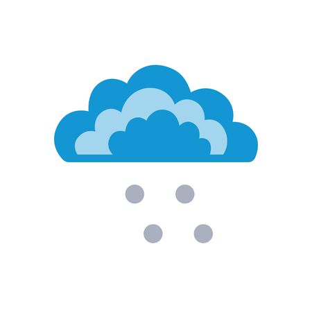 Symbols of clouds and hail. Abstract concept, icon. Vector illustration. Ilustração