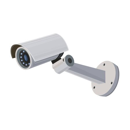 Security camera, icon. Symbols for the video surveillance service. Vector Illustration.