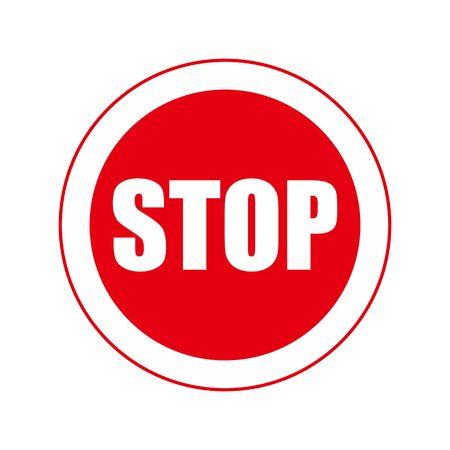Stop sign. Infographic element. Vector illustration. Vettoriali