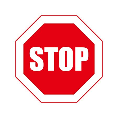 Stop sign. Infographic element. Vector illustration.