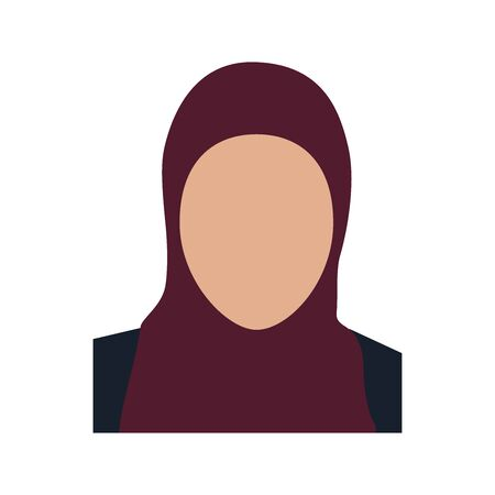 Woman faceless avatar, icon. Vector illustration. Ilustrace