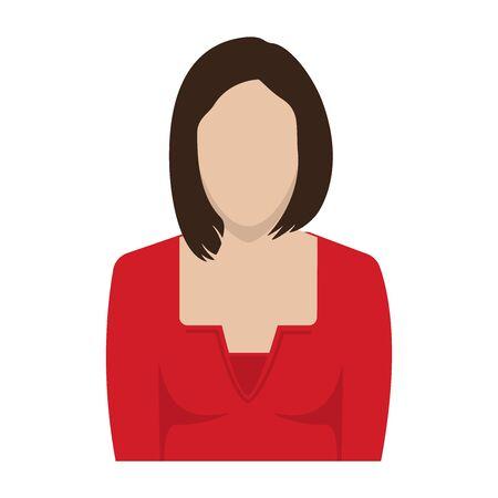 Businesswoman faceless avatar, icon. Vector illustration. Ilustrace